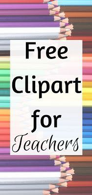 Awesome free clipart for teachers!  You can use these in your classroom or for your TPT products!