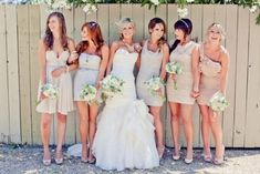 The tiny differences in the dresses is a great way to allow every bridesmaid to pick a dress perfect for HER
