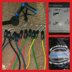 Love the bands with door attachment kit I got for my #HammerAndChisel workouts!  #Bodylastics  #bodylasticsbands