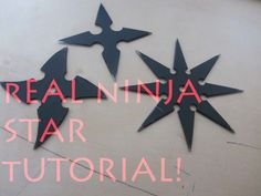 How To Make a Real Ninja Star / Shuriken - The Art Of Weapons