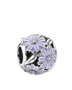 Pandora Charm - Sterling Silver & Enamel Daisy Meadow, Moments Collection