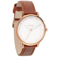 The Kensington Leather (rose gold/white) by Nixon