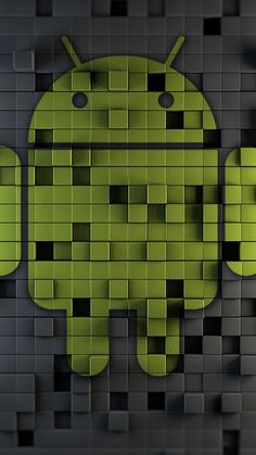 Android Green Mosaic Wallpaper for Mobile 720x1280