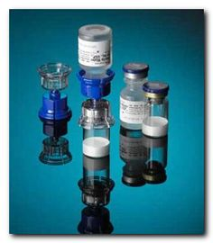 "What is drug reconstitution? This refers to the mixing of a drug with a diluent (such as normal saline). Pictured is the Mix2Vial™: this is an atypical needleless system for drug reconstitution. Generally, this process involves drawing up the diluent with a needle & injecting it into the powered drug (often preserved through a method known as ""lyophilized')."