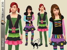 The Sims Resource: Halloween kids by Birba32 • Sims 4 Downloads