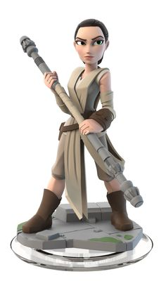 Rey Disney Infinity Star Wars: The Force Awakens Figure from The Force Awakens Play Set Edition) - Rey is a true survivor who is resourceful and capable. Disney Star Wars, Disney Pixar, Disney Art, Disney Toys, Disney Style, Star Wars Rey, Star Wars Rebels, Figuras Disney Infinity, Star Wars Desenho