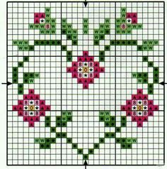 Small Cross Stitch, Cross Stitch Heart, Cross Stitch Borders, Cross Stitch Alphabet, Cross Stitch Flowers, Counted Cross Stitch Patterns, Cross Stitch Designs, Cross Stitching, Cross Stitch Embroidery