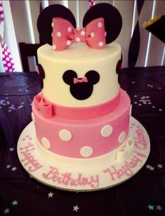minnie mouse cake but with red instead of pink