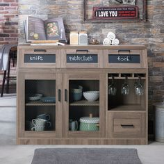 Furniture of America Wenoga Industrial Multi-Storage Buffet/Server (