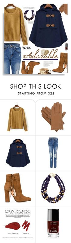 """""""Yoins.com: Adorable!"""" by hamaly ❤ liked on Polyvore featuring Isotoner, Aquazzura, Kenneth Jay Lane, Urban Decay, Chanel, women's clothing, women, female, woman and misses"""