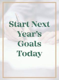 No matter what time of year it is, you can start your goals today!  Check out these tips!