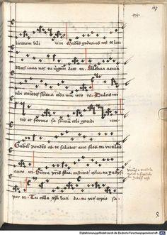 Cantionale, Geistliche Lieder mit Melodien. Münchner Marienklage Tegernsee, 3. Drittel 15. Jh. Cgm 716  Folio 137
