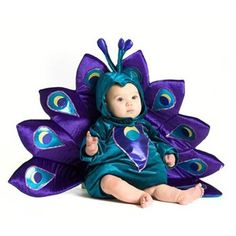 Baby girl peacock outfit