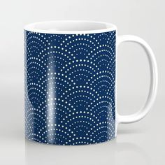 Buy Japanese Blue Wave Seigaiha Indigo Super Moon Pattern Coffee Mug by Surface Maximus. Worldwide shipping available at Society6.com. Just one of millions of high quality products available. Super Moon, Unique Coffee Mugs, Electric Blue, Tea Mugs, Cobalt Blue, Coffee Cups, Indigo, Waves, Fancy