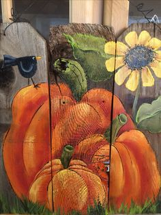 Hand painted on barnwood...  Happy Fall!!!!
