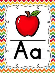Five Senses Preschool, Preschool Activities, Alphabet Posters, Alphabet Worksheets, Color Flashcards, Teacher Posters, Kindergarten Graduation, Alphabet For Kids, Alphabet
