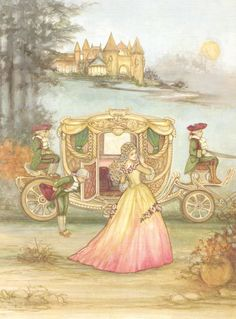 lovely cinderella book illustration ~ by joy scherger