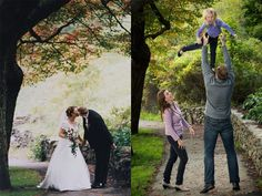Take a picture on your 10th anniversary in the same spot that you took a wedding photo - what a fantastic idea!