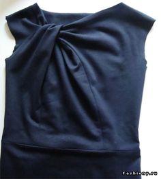 МК по шикарному элегантному платью с красивой драппировкой на груди. Обсуждение на LiveInternet - Российский Сервис Онлайн-Дневников
