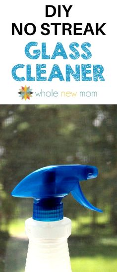 """This DIY Window Cleaner works great and really leaves no streaks! And none of the toxins of the \""""blue stuff\"""" from the store! #toxinfree #nontoxic #diy #naturalhome #toxinfree #nontoxic #diy #naturalhome"""