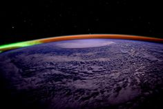 Day 271. A colorful night over #Earth. #GoodNight from @space_station #YearInSpace (via Scott Kelly on Twitter)