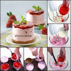 UNBAKED STRAWBERRY CHEESE CAKE  http://www.sajiansedap.com/recipe/detail/18177/unbaked-strawberry-cheese-cake#.VHWf8_mSxRE