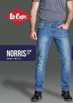 965b5ce62235 Norris - Slim Fit Silueta / Fit Jeansii slim, cu croiala care urmareste  linia piciorului