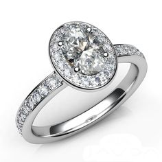 1.65 carats Oval Cut Diamond Engagement Ring set by NatureDiamonds, $5150.00