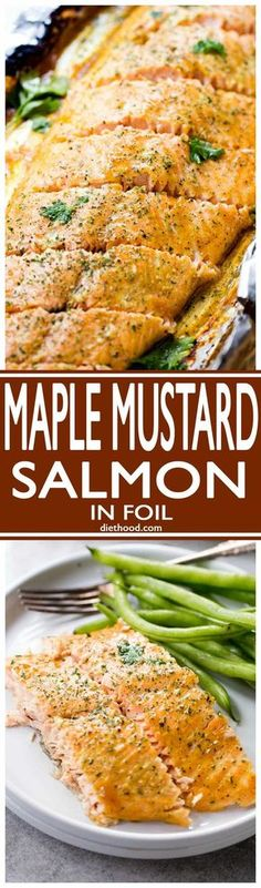 Maple Mustard Salmon in Foil - Delicious, sweet and tangy salmon ...