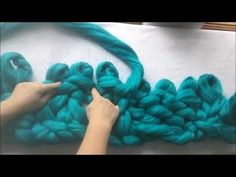 How to arm/hand knit with super chunky vegan yarn with BeCozi