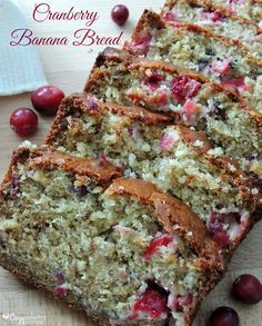 This beautiful, moist Cranberry Banana Bread is easy to make and just perfect for the Holidays!  Freezer Friendly too!