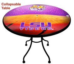 #LSUTigers #MagneticSkins Bucket Table Kits / #LSUBasketball MagneticSkins/ #PatioTable #GamesRoom #Tailgate