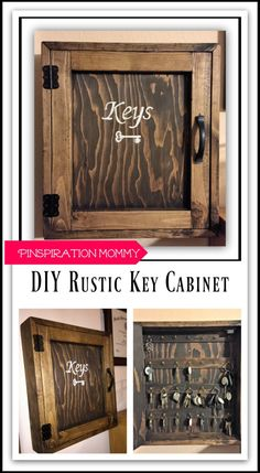 DIY Key Cabinet -- maybe with an old drawer and no cover?