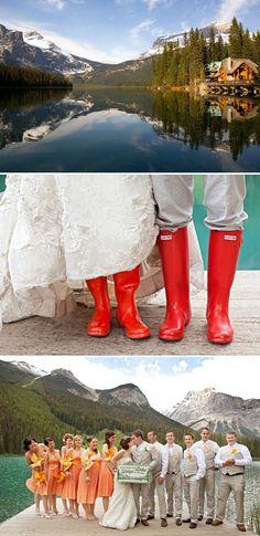 #wellies  Canadian Rockies Wedding by Orange Girl Photographs   Style Me Pretty