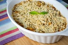 Super seasonal vegetable pasta bake