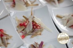 Pomegranade, artichokes and Parmigiano. A perfect italian mix with great class. Ph Michela Magnani http://www.brideinitaly.com/2013/12/magnani-circus.html #circus #whimsical #wedding #italy