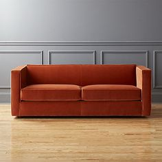 Club Sofa - Rust - CB2 - #furniture #couch #decor