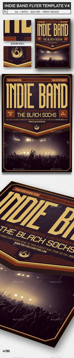 Jazz Concert Flyer \/ Poster Concert flyer, Jazz concert and - band flyer template