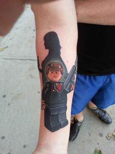 The name is Bond. Lego Bond. | 32 Lego Tattoos That Will Thrill Your Inner Child