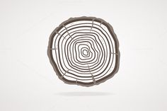 Vector tree rings. Flat Design by Stacy on Creative Market