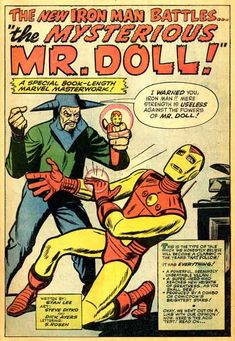 The Mysterious Mr. That stinks the whole reason Iron Man changed from his Yellow armor was to foil Mr. Doll in Tales of suspense # 48 Marvel Comic Books, Comic Books Art, Marvel Comics, Book Art, Avengers Two, New Iron Man, Marvel Masterworks, Tales Of Suspense, Iron Man Armor