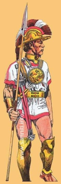 Воин из горных племён Центральной Италии VI-V вв. до н.э. Реконструкция по статуе из Капестрано.