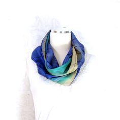 Silk Scarf Sari Silk Infinity Scarf Womens Scarf by Fibernique