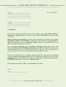 Cease And Desist Letter Template Word Excel Pdf Templates Preschool Newsletter Templates Letter Templates Free Letter Sample