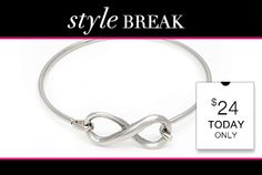 STYLE BREAK! Get the Jordan Bracelet for $24. Today Only! Just go to www.everlastingtime.kitsylane.com to order yours today... Become a member and receive great discounts and prices, too.
