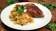 Kuřecí stehna s rýží z jednoho pekáčku Tandoori Chicken, Food And Drink, Pork, Meat, Ethnic Recipes, Eastern Europe, Kale Stir Fry, Pigs