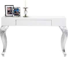 Console Janus White 1 Drw - KARE Design A glamorous console table with Star appeal - The interface between the baroque and the modern is the basis for this irresistible piece of furniture. Furniture, Table, Ideal Home, Furnishings, Interior, Glam Furniture, Console Table, Modern, Home Decor