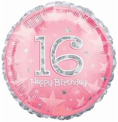 Pink Sweet 16 birthday balloon - Sweet 16 Balloons #Balloon #Sweet16 #PinkBalloon
