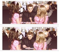 Hunter Hayes Sofia Grace and Rosie awwww he's so sweet to little kids!!