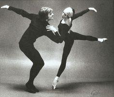 Natalia Makarova with Baryshnikov (photo Max Waldman)